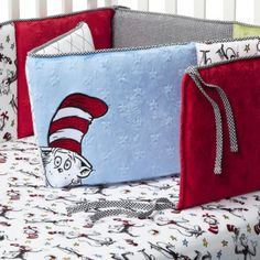 Trend Lab Dr Seuss Cat in the Hat Crib Bumpers - Red