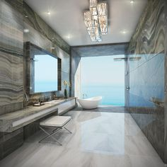 Interior Design Magazine | The Estates at Acqualina, slated for completion in 2020. Rendering courtesy of the Trump Group. Couture, meet contract design! Karl Lagerfeld, Chanel's iconic cr...