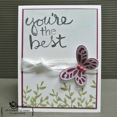 Stamping in Columbus, GA: You're the best. Stampin' Up!, Stamping in Columbus GA, Watercolor Words, Paper Pumpkin