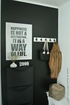 Black Photography, Foyers, Hallways, Mudroom, My Dream Home, Ikea, Haku, House, Cases