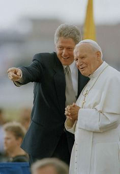 President Bill Clinton and Pope John Paul II