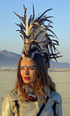 Burning Man Festival Women   The Intriguing Faces of Burning Man… Burning Man 2013