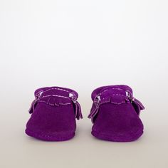 Grape Suede - Moccasin by Freshly Picked #babymoccs #freshlypicked #moccasins