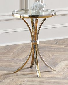 Shop Cain Side Table from Interlude Home at Horchow, where you'll find new lower shipping on hundreds of home furnishings and gifts. Stainless Steel Side Table, Glam Decor, Table Furniture, Side Table, Glamorous Decor, Modern Glam Decor, Table, Diy Interior Decor, Metal Furniture