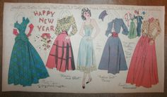 Vintage Boston Sunday Post Newspaper Cut Out Doll Josephine New Years Eve Girl | eBay