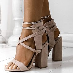 Nude.. Always @simmishoes Shoe: Lacie Cross Strap