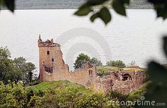 Urquhart Castle on the edge of Loch Ness in Scotland, UK