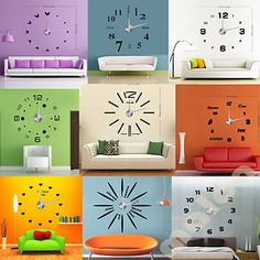 Make a statement with the 3D Modern Designs Frameless Large Wall Clock.