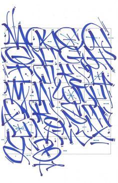 Graffiti Letters 61 graffiti artists share their styles Bombing Science Graffiti Alphabet Styles, Graffiti Lettering Alphabet, Chicano Lettering, Graffiti Words, Graffiti Writing, Tattoo Lettering Fonts, Graffiti Tagging, Graffiti Characters, Graffiti Styles
