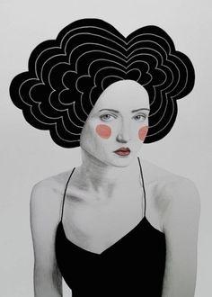 Retro Pencil Drawings of Women – Fubiz Media