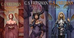 C.S. Friedman's Magisters Trilogy...  hint: start with Feast of Souls!