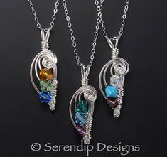 Mothers Pendant Sterling Silver Three by SerendipDesignsJewel, $34.00