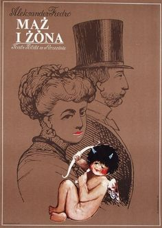 Husband and Wife, Fredro, Polish Theater Poster