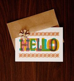 Hello notecards by Benign Objects