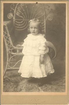 Victorian Photograph of Baby in White