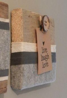 Label op hout