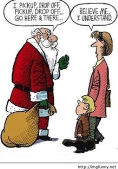 Christmas funny conversation with santa
