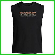 Idakoos - Montgomery repeat retro - Male Names - Sleeveless T-Shirt - Retro shirts (*Amazon Partner-Link)