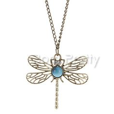 $2.12 Creative Dragonfly Necklace Hollow Necklace - BornPrettyStore.com