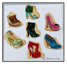 Shoe Cookies. Shoe Cookies, Tea Cookies, Custom Cookies, Cookie Designs, Sugar Rush, Cookie Monster, Cookie Decorating, Girly, Cute