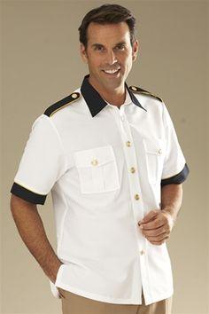 Short Sleeve Resort Jacket - White/Navy