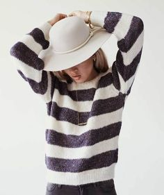 Nuri Chunky Striped Sweater by Nanushka