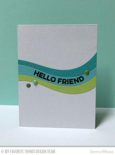three umbrellas: Hello Friend...