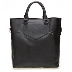 Oversize textured leather tote