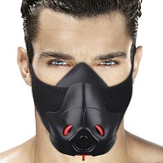 Discounted FRIORANGE Sport Workout Training Mask Hypoxic Mask Running Mask Fitness mask Achieve High Altitude Elevation Effects with 3 Level Air Flow Regulator Cycling Workout, Running Workouts, Cycling Mask, Breathing Mask, Cool Masks, Sports Training, Endurance Training, Black Mask, Mouth Mask