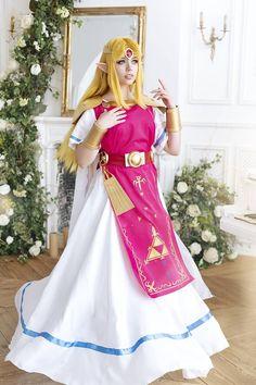 Legend of Zelda:A Link between Worlds. Princess Zelda Costume, Princess Costumes, Blue Ball Gowns, Ball Gown Dresses, Cosplay Outfits, Cosplay Costumes, Cosplay Ideas, Costume Ideas, Amazing Cosplay