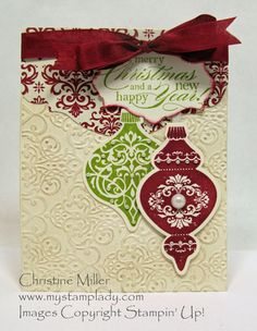 Cherry and lime Ornament by cmstamps - Cards and Paper Crafts at Splitcoaststampers