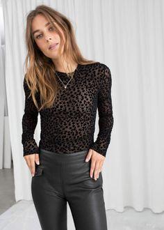 19fffba3ec2ed And other stories Velvet Dot Sheer Top Sheer Top Outfit