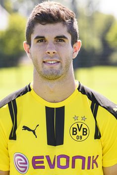 Christian Pulisic  poses during the team presentation of Borussia Dortmund on…