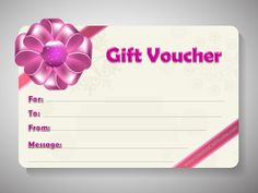 Free printable gift voucher template. Instant download. No ...