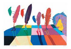 Walter Battiss, 'Walking Feathers'