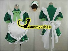 Free Shipping Tokyo Mew Mew Power Lettuce Midorikawa Maid Clothing green dress Cosplay Costume Acceptable order Halloween Party-in Clothing from Novelty & Special Use on Aliexpress.com   Alibaba Group