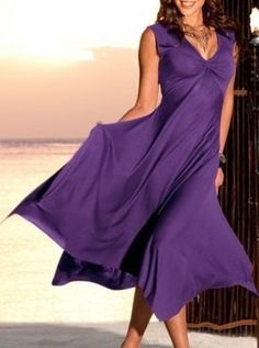 A beautiful summer dress with a wide long skirt by NewstyleNataly, $65.00