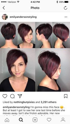 (notitle) The post (notitle) & Taglio bob appeared first on Yorgo. Haircuts For Long Hair, Short Bob Hairstyles, Cool Hairstyles, Short Hair Cuts For Women, Short Hair Styles, Assymetrical Hair, Haircut And Color, Hair Today, Hair Dos