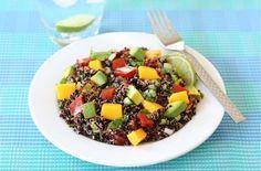 Black Quinoa Salad with Mango, Avocado,  Tomatoes (cilantro and cumin)