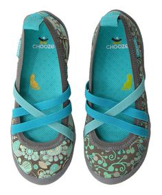 Love this Gray Fresh Spin in Swirl Flat by CHOOZE on #zulily! #zulilyfinds