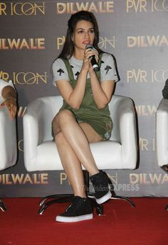 Kriti Sanon at the launch of #ManmaEmotionJaageRe song from #Dilwale. #Bollywood #Fashion #Style #Beauty #Hot #Sexy