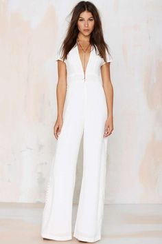 at nasty gal Wayward Stun Crochet Jumpsuit - White Jumpsuit Dressy, White Jumpsuit, New Outfits, Cute Outfits, Crochet Jumpsuits, Jumpsuit Pattern, Elegant Outfit, White Fashion, Swagg