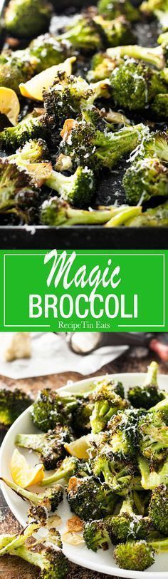 Magic Lemon Broccoli (leave off cheese). I think I could eat this entire plate of broccoli. Nothing like broccoli seasoned perfectly Healthy Recipes, Vegetarian Recipes, Cooking Recipes, Bariatric Recipes, Meal Recipes, Delicious Recipes, Recipies, Atkins Recipes, Ketogenic Recipes