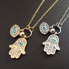 Exquisite Hamsa Hand Turkey Blue Eyes Shape Necklace