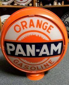 Original Pan-Am Orange Gas Globe