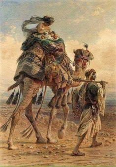 Orientalist paintings by Carl Haag 1820 - 1915 German painter Empire Ottoman, Arabian Art, Academic Art, Arabian Nights, Egyptian Art, North Africa, Art Plastique, Art And Illustration, Beautiful Paintings