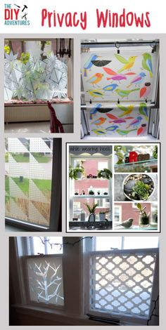 DIY Privacy Windows - ideas