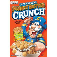 This is for an empty flattened box of Quaker Cap'n Crunch's cereal. I do not see an expiration date but The coupons expire 1994 and it has 1993 on them too so that is probably the year it was released. Crunch Cereal, Granola Cereal, Cap'n Crunch, Chex Cereal, Peanut Butter Breakfast, Breakfast Cereal, Breakfast Kids, Creamy Peanut Butter, Oat Flour