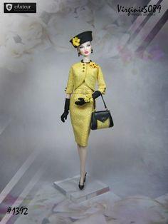 tenue outfit + accessoires pour fashion royalty barbie silkstone  vintage #1392