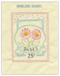 Your Homework in the Girls Own Stitching Club for this month is to    embroider the latest Le Jardin design - English Daisy. The stitch for this month is Chain Stitch. I've used other stitches in t...